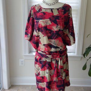 Outback Red Summer Dress with Slit Sleeves